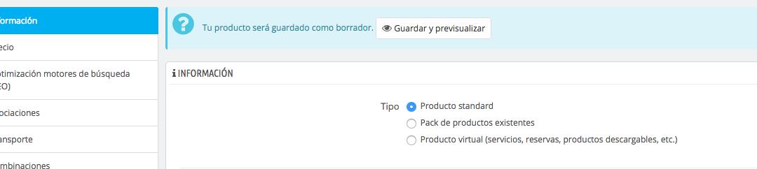 [Solucionado] No se pueden actualizar ni crear productos en Prestashop