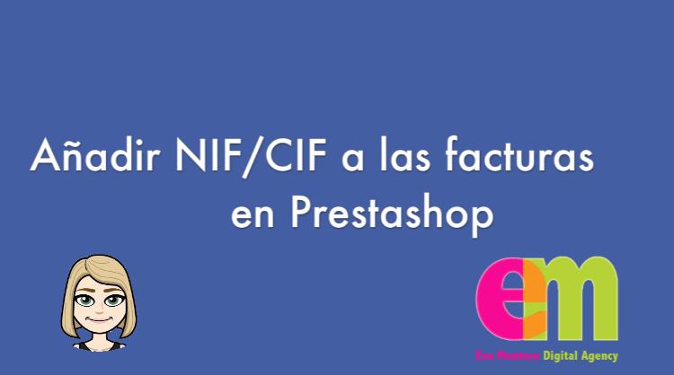 añadir NIF a las facturas de Prestashop fácil y rápido