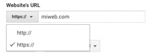 cambiar view settings a https en google analytics